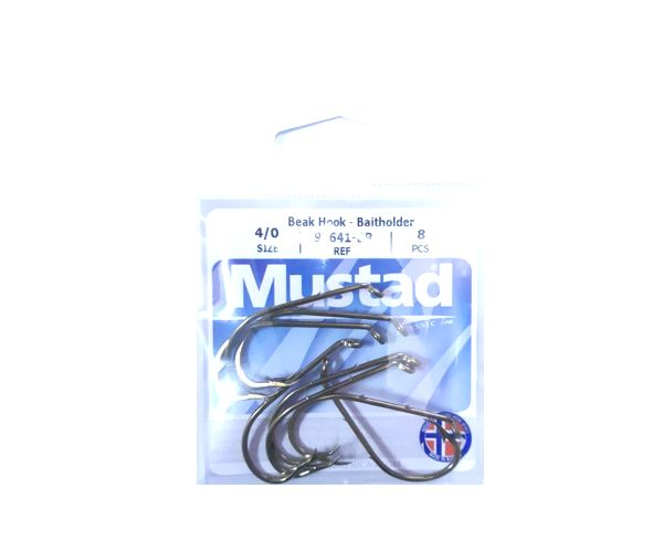 Anzuelos 92641-BR Nro 4/0 * 8 Unidades Mustad