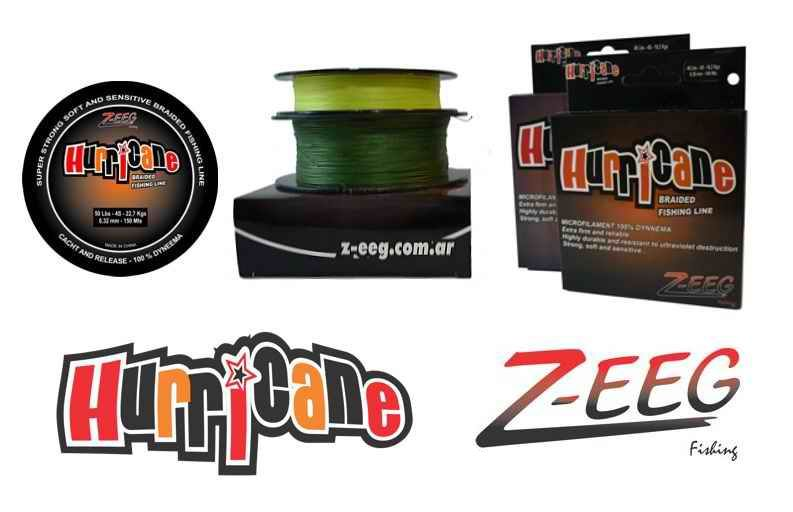 Multifilamento Hurricane Z-EEG  20 Lbs, 0,12 mm - 100 Mts - A-4S