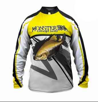 REMERA DE PESCA MONSTER 3X Filtro UV 20 New Fish 02
