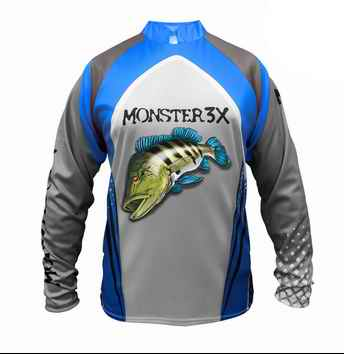 REMERA DE PESCA MONSTER 3X Filtro UV 20 New Fish 03