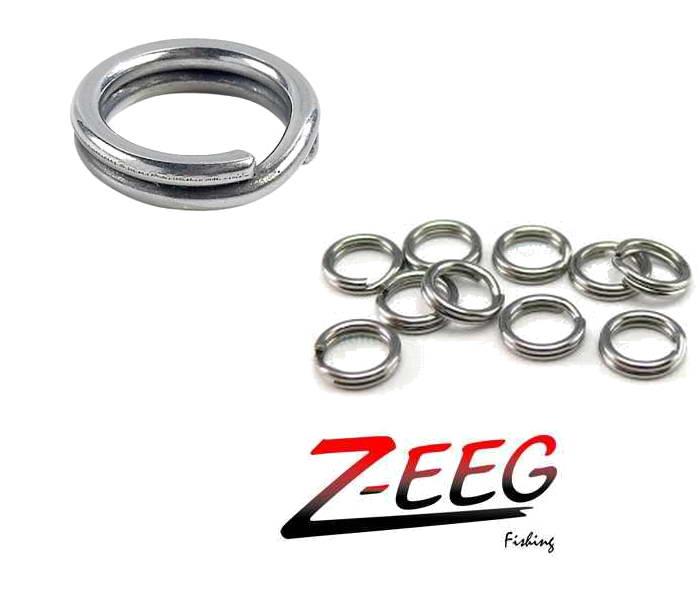 Anillas para señuelos acero reforzadas Nro 6 Z-EEG