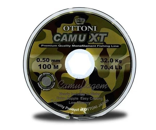 Nylon CAMU XT 0,50 mm (32 Kg) / 100 Mts Ottoni