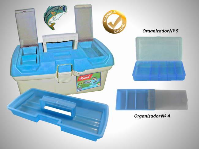 Caja de Pesca Mauri 410 - Con 2 Cajas organizadoras