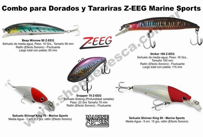 Combo 5 señuelos Marine Sports y Z-eeg