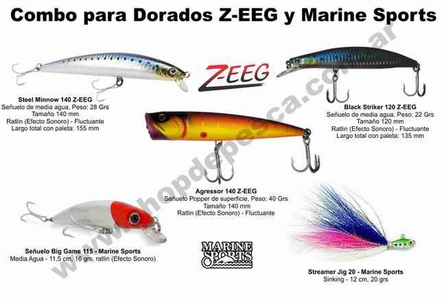 Combo 5 Señuelos  Z-EEG y Marine Sports