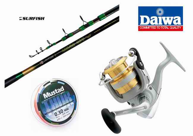 Combo de Lisa Surfish - Daiwa Lissa 410 + Sweepfire 3000 2Bi