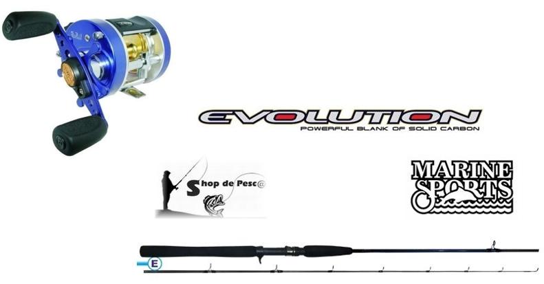 Combo I para Pesca Embarcada Caster 200 Evolution 15-30