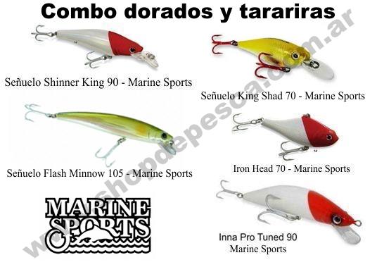 Combo 5 Señuelos Para Dorados Y Tarariras - Marine Sports