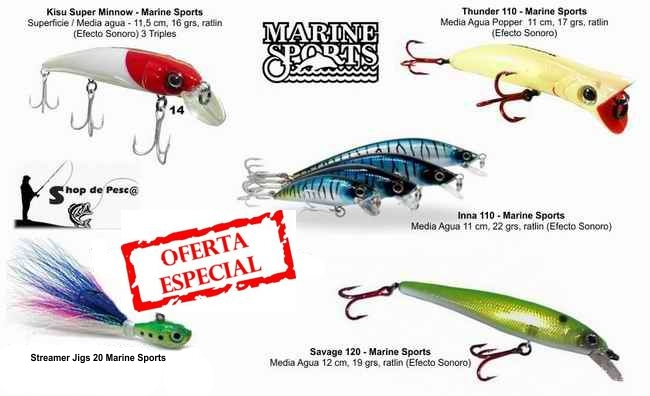 Combo 5 Señuelos Para Dorados Marine Sports