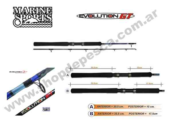 Marine Sports Evolution GT Carbono Solido MS-C 661 H 20-60