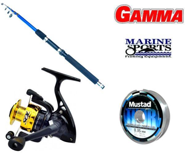 Combo Variada Mochilero Gamma 1.60 Mts  + Sol 100 Marine Sports