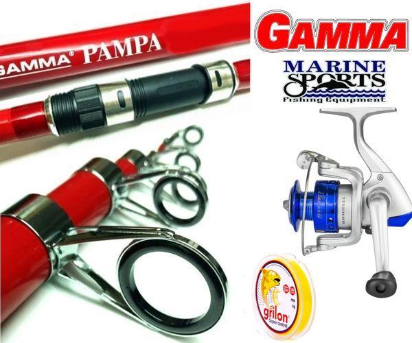 Combo Pejerrey Marine Sports Star 3 Gamma Pampa 3,60 Mt + Nylon