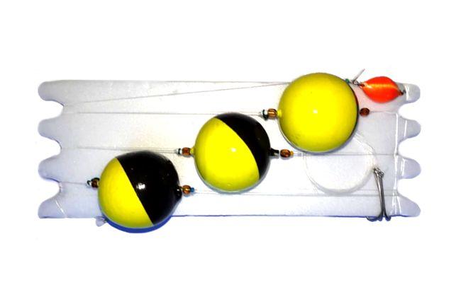 Linea Pejerrey 3 Boyas Ping Pong Grandes
