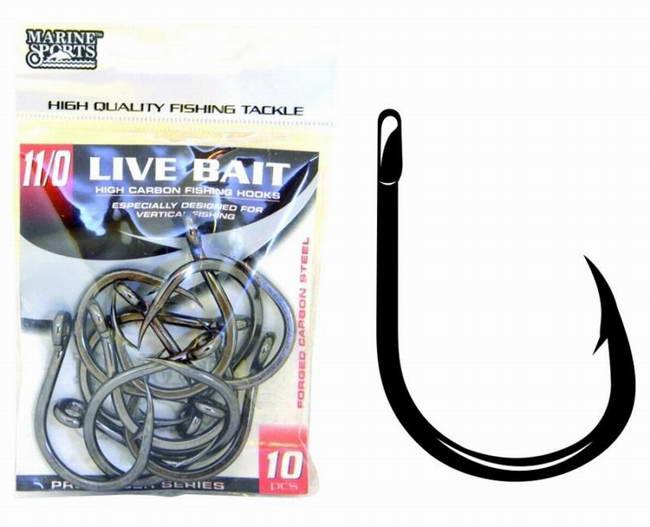 Anzuelos Live Bait Marine Sports 7/0 (Pack * 10 Unid)