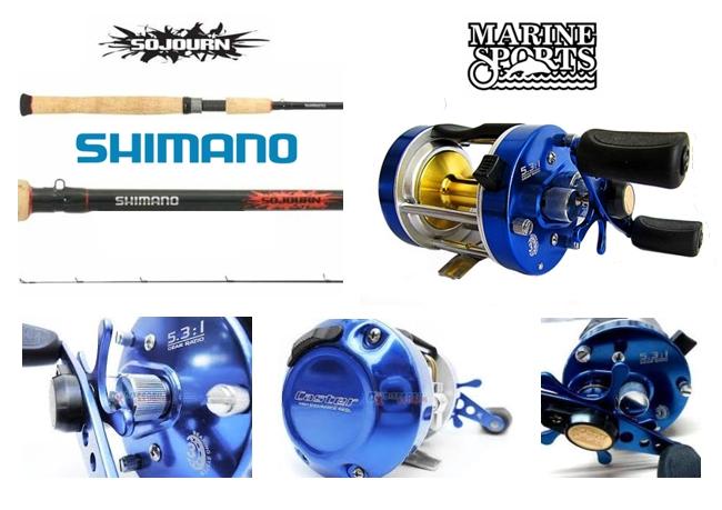 Combo de pesca embarcada y trolling SHIMANO MARINE SPORTS