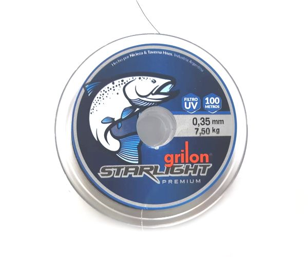 Nylon Starlight Premiun Black 0.35 mm (7.5 Kg) 100 Mts Grilon