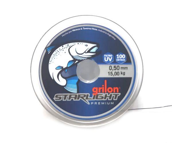 Nylon Starlight Premiun Black 0.50 mm (15 Kg) 100 Mts Grilon